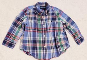 Ralph Lauren Blue Plaid Button Down Shirt